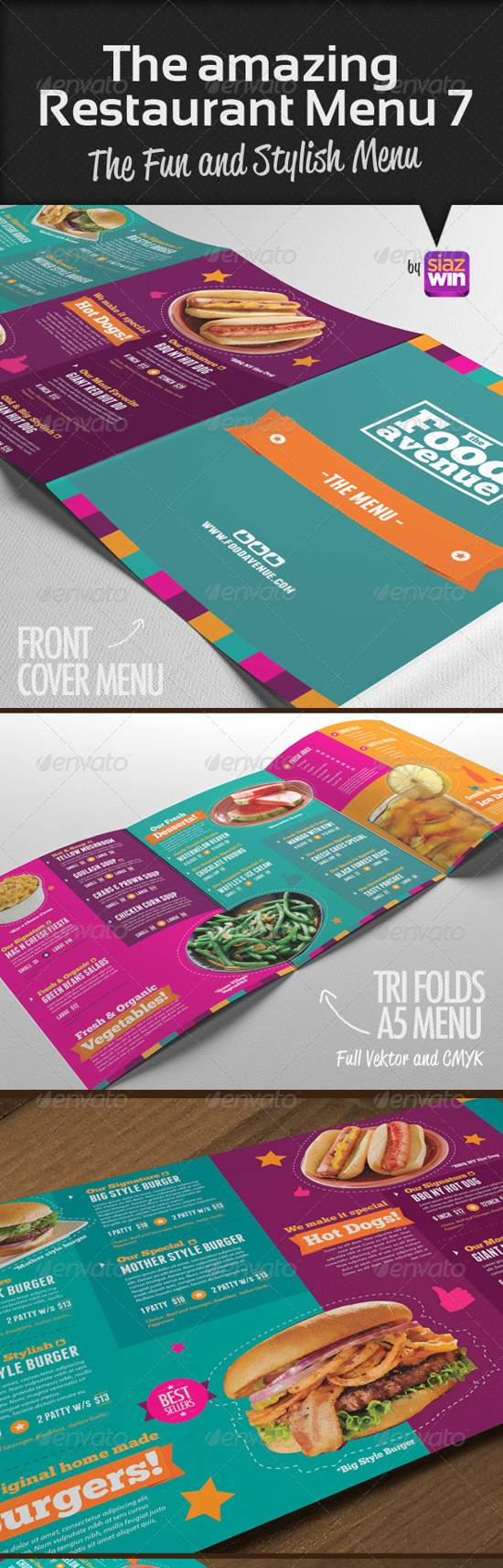 amazing food menu template