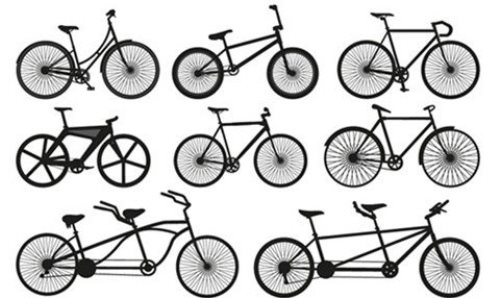 Bicycle Silhouette Vectors
