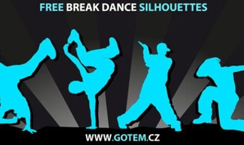 Breakdance Vector Silhouettes