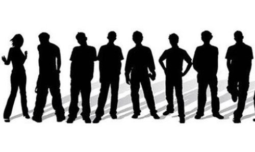 Stylish People Silhouettes Free Vector