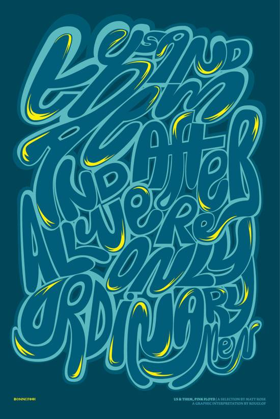 amazing typographic poster designs