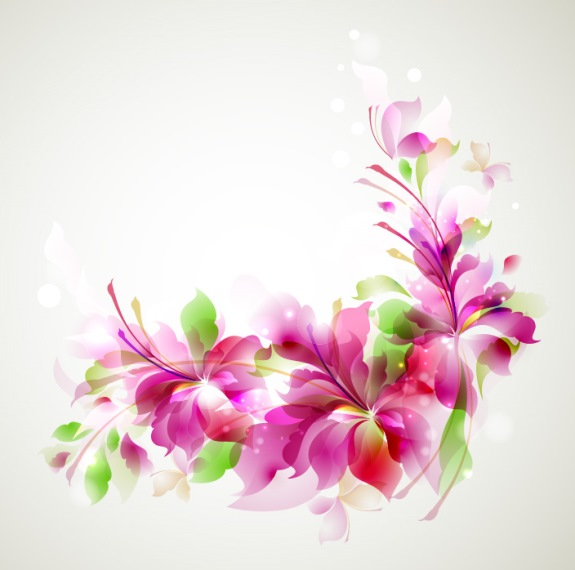 Flower pattern banner vector