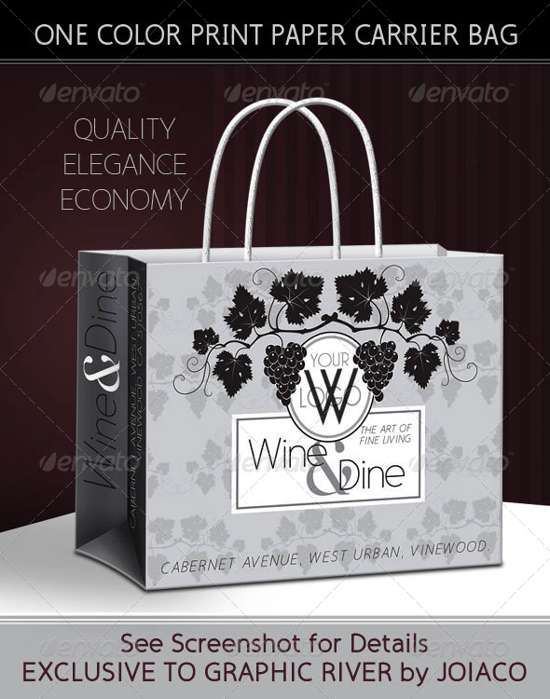 wine retail packaging template