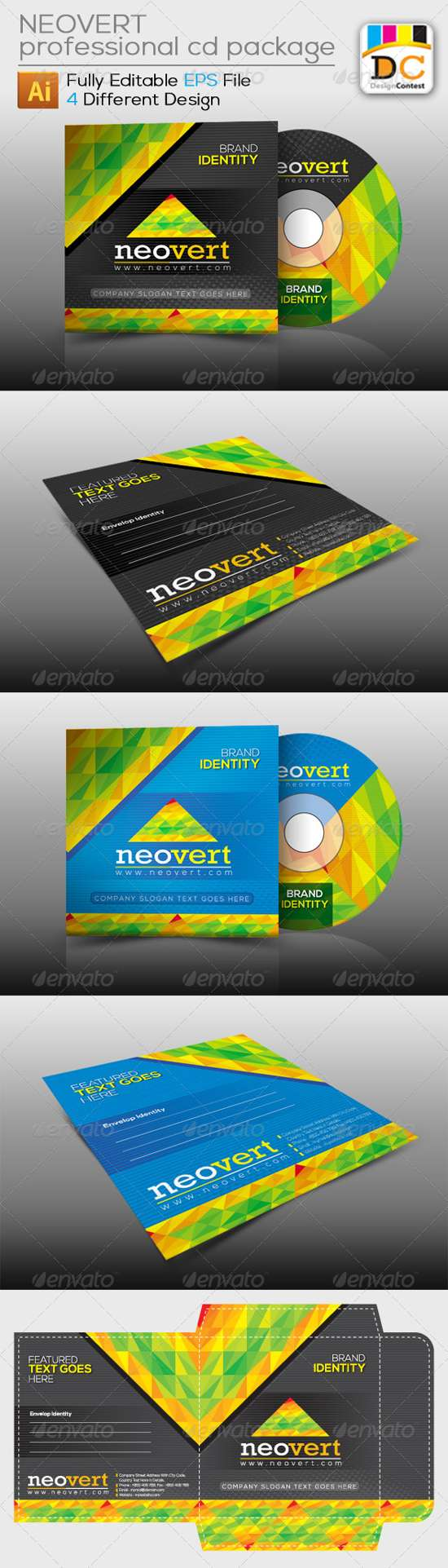 cd sleeve packaging template