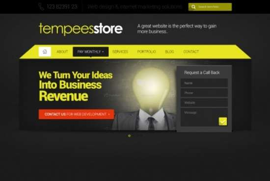 web template with slider