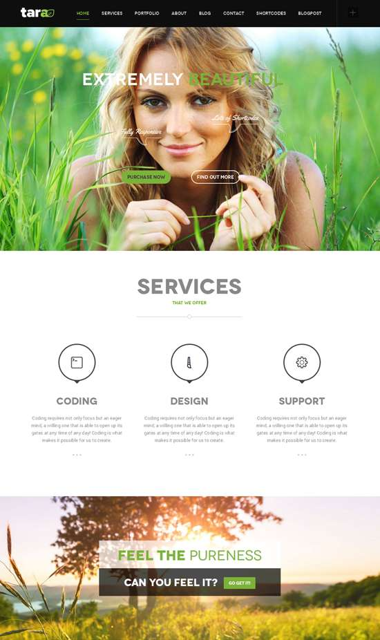 parallax multipurpose web design