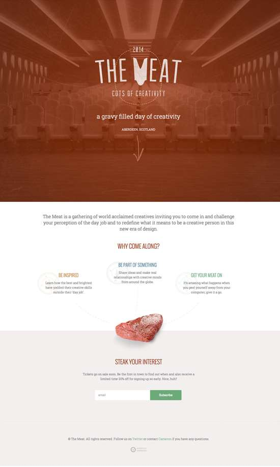 the meat web design