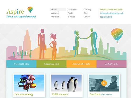 aspire leadership web design