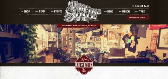 empire state tattoo studio web design