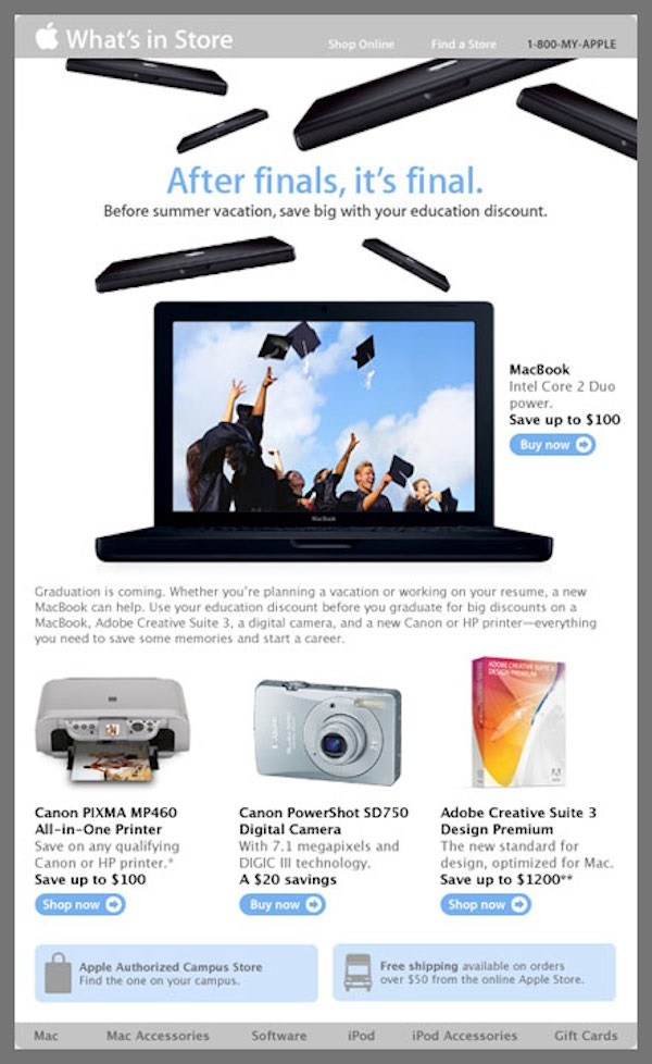 Apple Grad Guide Accessories Email