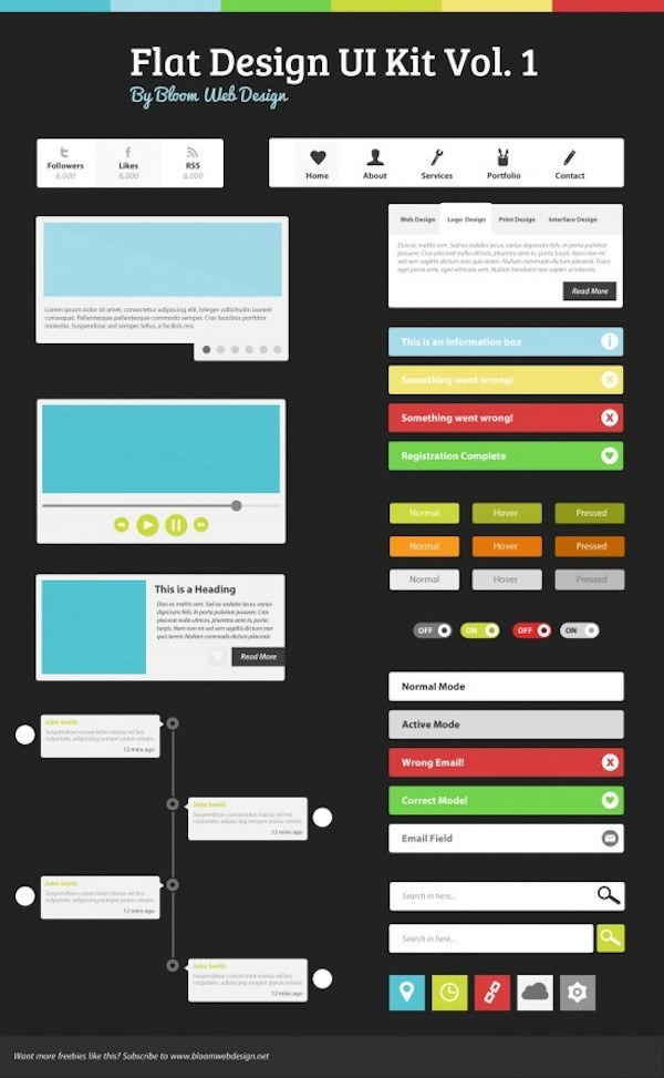 Flat Design UI Kit