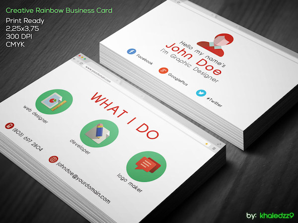 Flat Google Browser Business Card