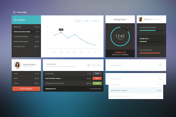 Free PSD - Time Graph UI