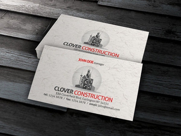 Simple Paper Texture Business Card Template