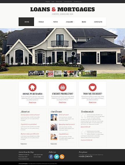 Light Mortgage WordPress Theme