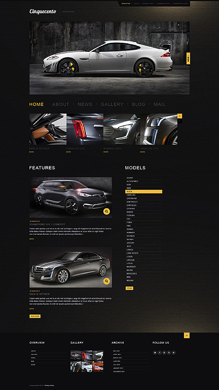 Elegant Car WordPress Theme
