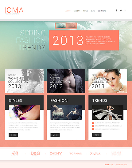 Modern Fashion WordPress Theme