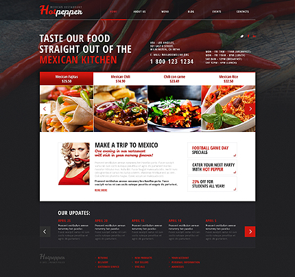 Mexican Kitchen WordPress Theme