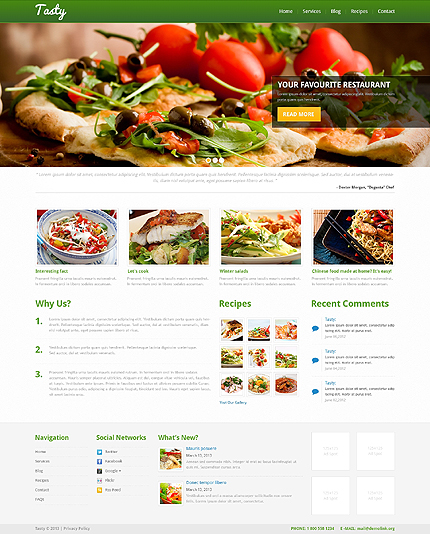 Cooking Recipes Online WordPress Theme