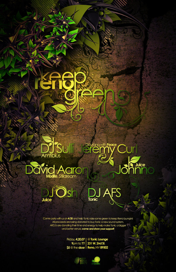 Keep Reno Green Poster