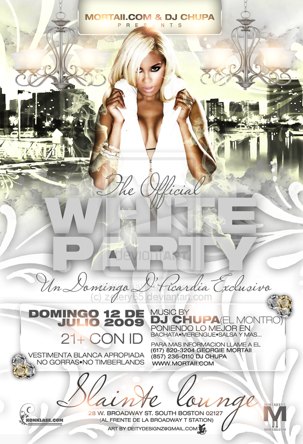 The Official White Party Flyer