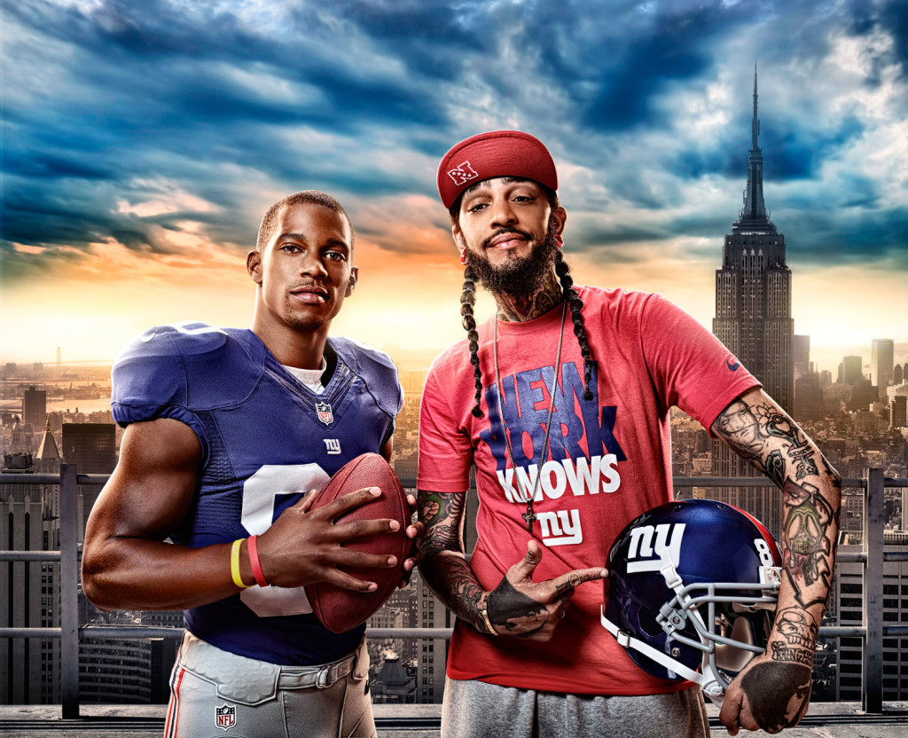 Pepsi NY NFL Photo Manipulation Projects and adverts
