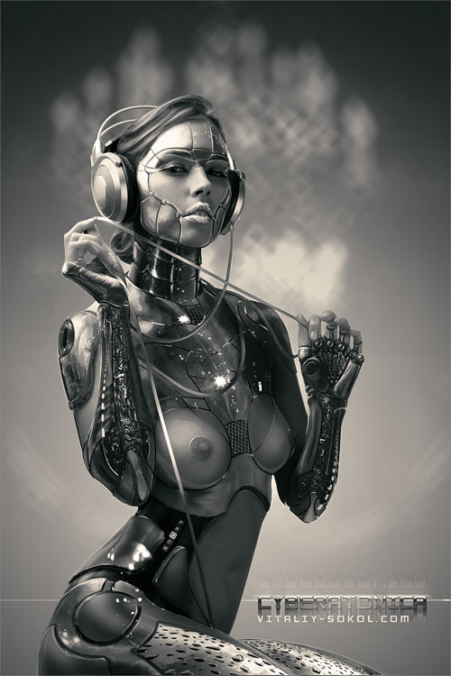 Realistic Android Cyborg Girls Photo manipulations