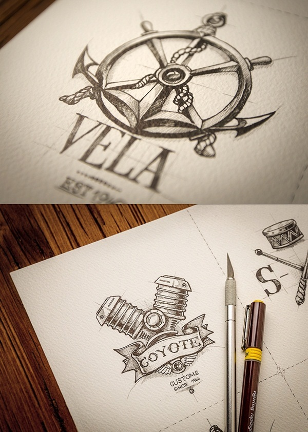 Creative Logo Sketching Designs for Inspiration2