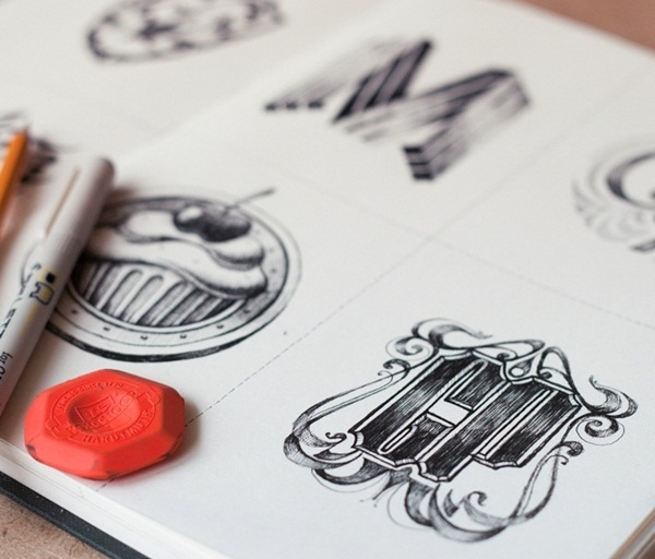 Creative Logo Sketching Designs for Inspiration22