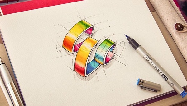 Creative Logo Sketching Designs for Inspiration23