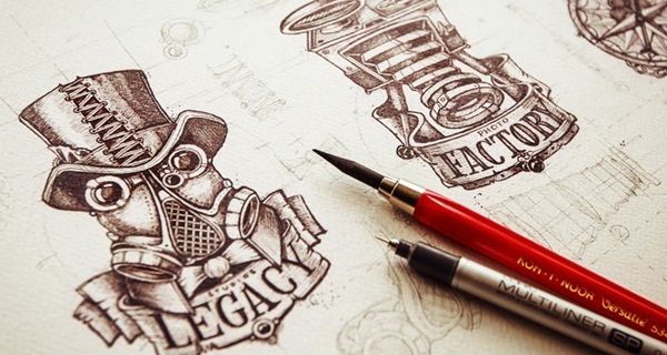 Creative Logo Sketching Designs for Inspiration4