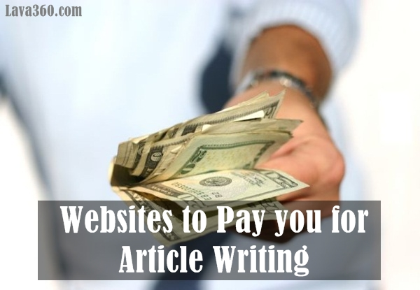 Websites to Pay you for Article Writing1.2