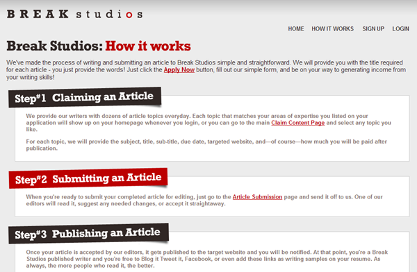 Websites to Pay you for Article Writing9