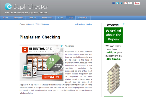 Best Online Plagiarism Checker Websites8