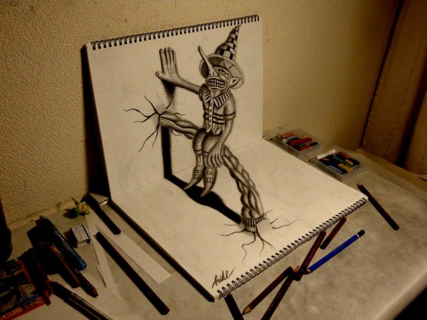 3D Pencil Drawings and illustrations
