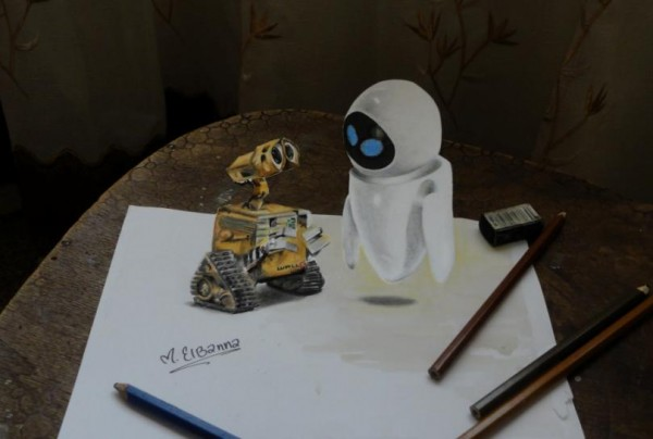 WALL.E 3D drawing