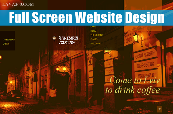 Full Screen Website Design for Inspiration1.1