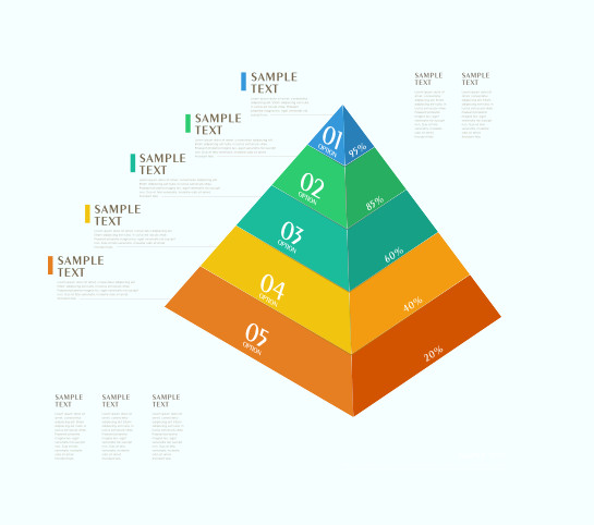 Free Vector Infographic Pyramid