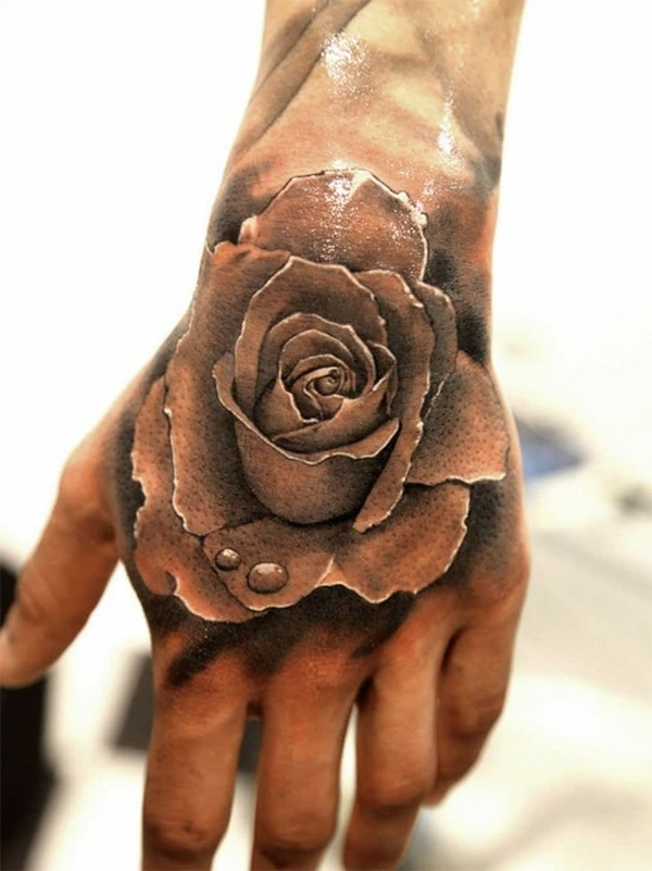 Attractive and Sexy Rose Tattoo Designs13