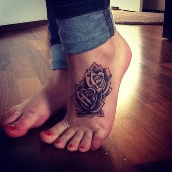 Attractive and Sexy Rose Tattoo Designs18