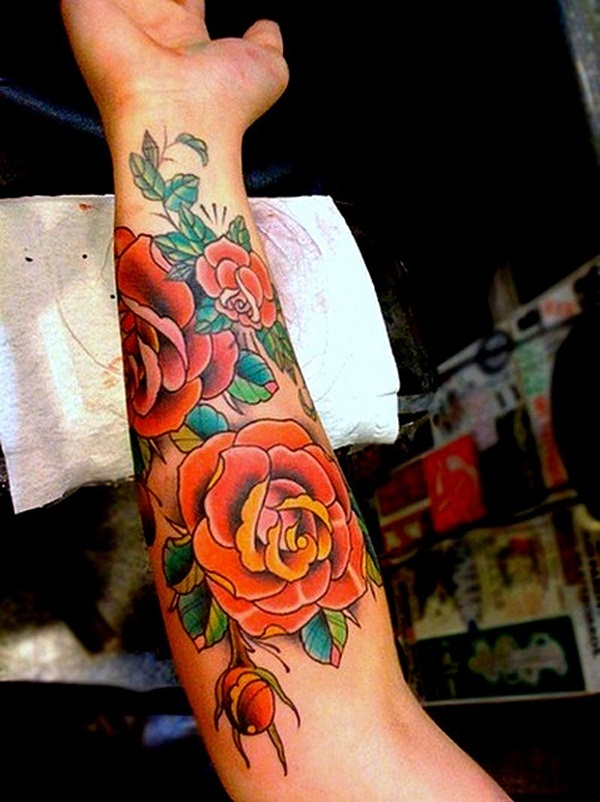 Attractive and Sexy Rose Tattoo Designs22