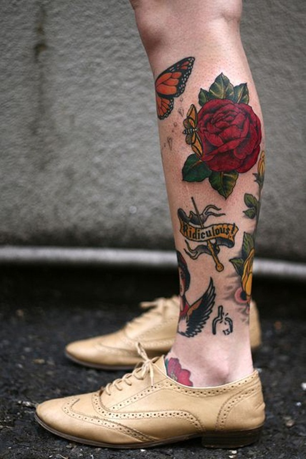 Attractive and Sexy Rose Tattoo Designs3