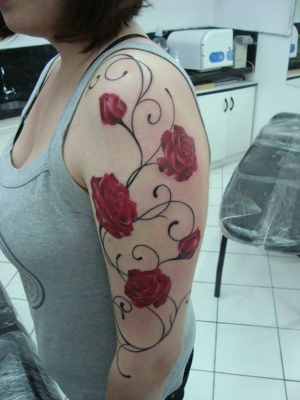Attractive and Sexy Rose Tattoo Designs30