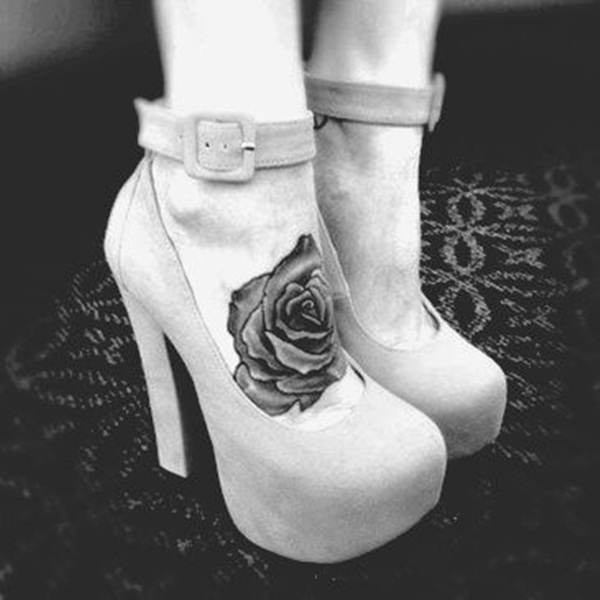 Attractive and Sexy Rose Tattoo Designs31
