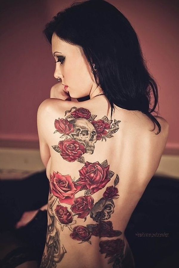 Attractive and Sexy Rose Tattoo Designs6