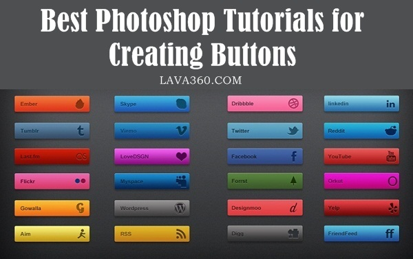 Best Photoshop Tutorials for creating buttons1.1