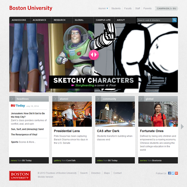 Education Website Designs for Inspiration15