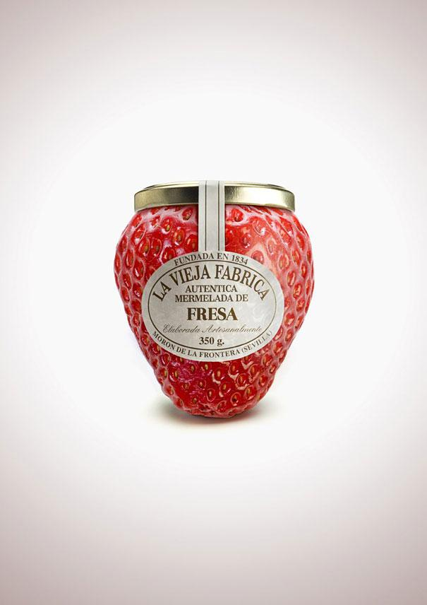 Fruit-Shaped Jam Bottles Product Packaging Designs
