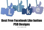 Best Free Facebook Like button PSD Designs: 20 Sets