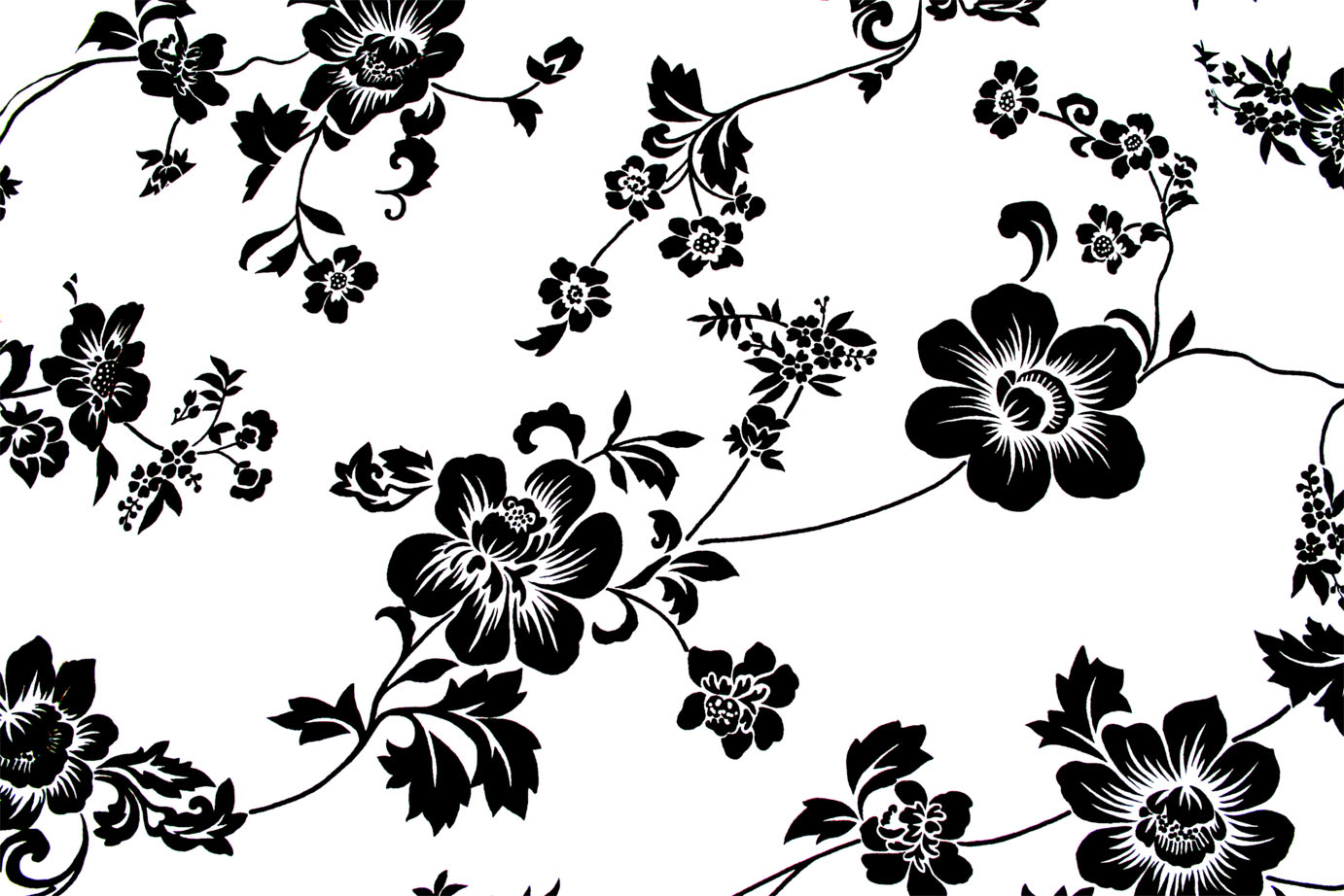 Black and white bed sheets texture - Seamless Free Floral Textures 11